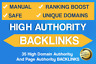 35 High Domain Authority And Page Authority BACKLINKS