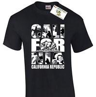 California Republic Camouflage T-Shirt California Bear White Camo TeeT-shirt