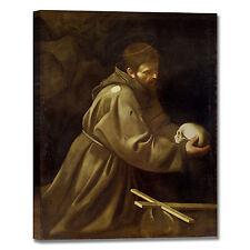 Caravaggio san Francesco meditazione quadro stampa tela dipinto arredo casa