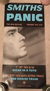 The Smiths PANIC original promo poster Rough Trade vintage cartel mint 1986
