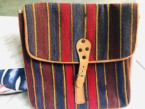Handmade dhurrie bag kuchi multi coloured shoulder wool vintage high quality