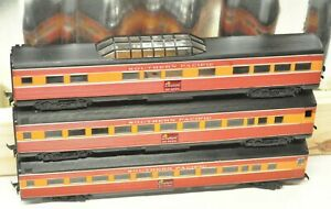 3 VINTAGE ATHEARN HO SCALE SOUTHERN PACIFIC PASSENGER CARS DAYLIGHT COLORS