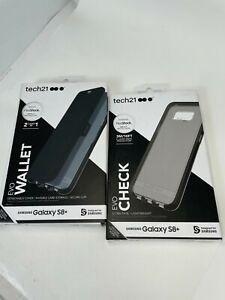2x Tech21 Evo Wallet Cover Case for Samsung Galaxy S8+ (PLUS) Black