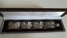 Pendientes de plata esterlina pulsera ancho Grabado Floral mexicano
