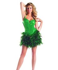 sexy BE WICKED feather FEATHERED sequin BACKLESS ballroom DANCE burlesque DRESS