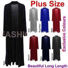 Ladies Women Long Sleeve Cardi Length Boyfriend Maxi Cardigan Plus Size UK 8-22