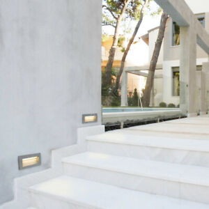Outdoor Die Cast Alloy Recessed Wall 3w Cool White LED Brick Light Built In