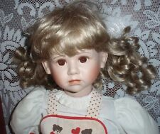 """30"""" Porcelain Doll With Tear by Elke Hutchens GADCO Great American Doll Company"""