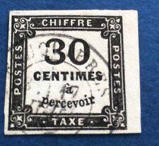 France Taxe N°6 30 C Noir  Obli BDF TTB Qualité Cote 160€
