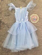 Disney Store Princess CINDERELLA Velvet Tutu Costume Dress Up Blue Sz XS 4