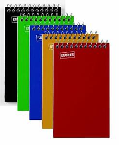 "Staples Memo Pads, 3"" x 5"", College, Assorted, 75 Sheets/Pad, 5 Pads/Pack (11491"