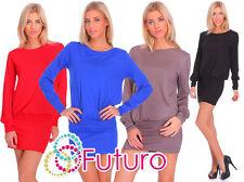 Viscose Crew Neck Short/Mini Tunic Dresses for Women