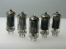 """5 Strong RCA 6AU6 """"Square Tops"""" Sweetest Warm Gravy Tone Serious Tubes J303"""