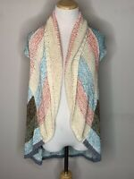 CAbi Womens Open Front Cardigan Sweater Vest w/ Shawl Collar Open Knit Sz S