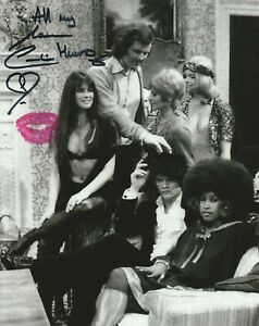 Photo - Caroline Munro signed in person with Authentic Lipstick Kiss!!! - K375