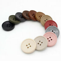 4 Hole Flat Button Sewing Craft Round Resin Buttons Coat Clothes Buttoned Decor