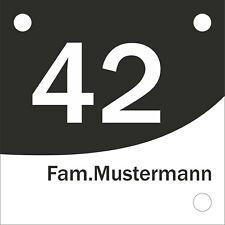 Hausnummernschild Klassisch modern Alu-Verbund verschiedene Ausführungen/Designs