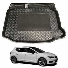 LDPE boot liner tray or rubber load mat bumper protector Seat Leon hatch 2013+