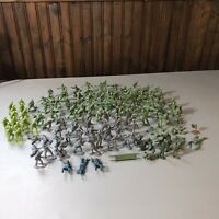 Vintage Plastic Army Men Lot Some Marked Marx Over 100 Men Collection Hong Kong