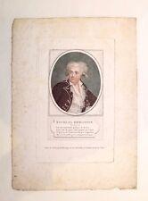 Gravure au pointillé, Portrait de Bergasse, Ecole française XVIIIe