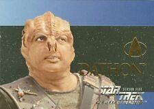 "1996 STAR TREK: NEXT GENERATION SEASON 5 EMBOSSED CHARACTER ""DATHON"" CARD # S28"