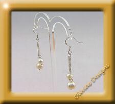 PLATA esterilina, 925 Pendientes esterilina Collar perlas de Agua Dulce
