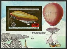 Guinee Guinea Zeppelin Montgolfiere Hot Air Non Dentele Imperf ** 1983 Or Gold