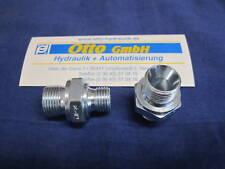 """Doppelnippel zöllig 3/8"""" AG x 1/4"""" AG Hydraulik Adapter Verschraubung 1/4 x 3/8"""