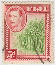 Stamp(F27) Fiji1938 5d Red & Green SG259