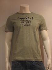Tommy Hilfiger New York Ss T [Talla M] Camiseta T-Shirt Hombre Verde
