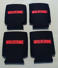 Lot Of 4 Wolverine Black & Red Can Or Bottle Beverage Koozies-Brand New!