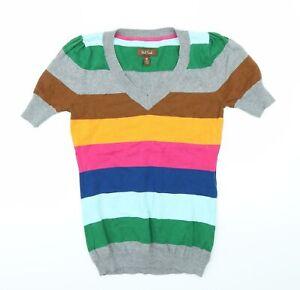 Paul Frank Womens Grey Striped  Basic T-Shirt Size S