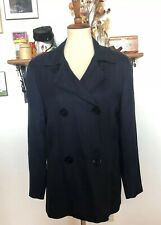 Vintage 1970s Gallavanter Jacket Navy Peacoat Style Lightweight Fibranne