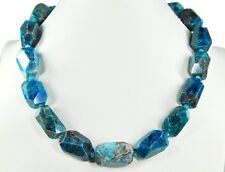 BELLA CADENA de piedras preciosas de Cianita en forma tallado