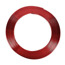 Good Red 8mm DIY Chrome Moulding Trim Strip Car Exterior Decor Door Detail 8M