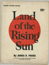 Land Of The Rising Sun 1943 James R. Young Motion Picture Edition Program