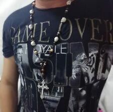 Collar rosario calavera colgante surf skull necklace surfer craneo muertos faith