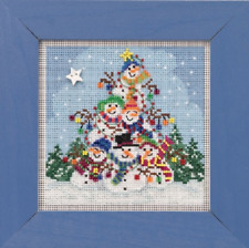 MILL HILL Buttons Beads Kit Counted Cross Stitch SNOWMAN PILE MH14-1932