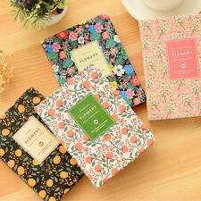 PU Leather Flower Schedule Planner Notebook School Office Supplies Stationery WB