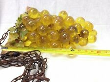 Vintage Mid Century Modern Lucite Grapes Hanging Light