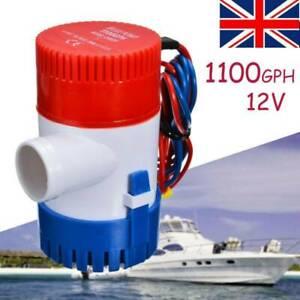 1100GPH Marine Bilge Pump Submersible Water Pump 12V Electric Yacht Boat