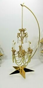 Miniature Hanging Candelabra Chandelier 7 inches Tall