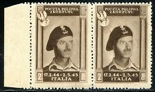 Corpo Polacco 1946 n. 12 coppia - carta zigrinata - varietà ** (m364)