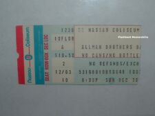 Allman Brothers Band 1979 Concert Ticket Stub Nassau Coliseum Long Island Rare