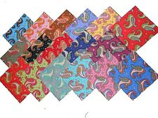 68 5 inch Quilting Fabric Squares Beautiful Dancing Paisley !!