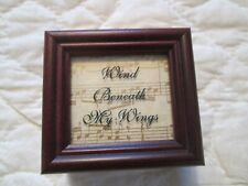 Vintage Wooden Music Box by P Graham Dunn Inc. Wind Beneath My Wings