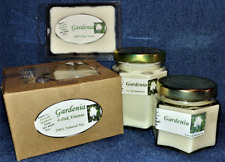 *New* Hand Poured Floral Gardenia Flower Soy Candles, Tarts & 4-Pack Votives