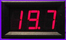Digital Voltmeter panelmeter instalación voltimetro dc 0 - 99,9v rojo LED tensión cuchillo