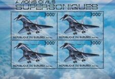 TUPOLEV Tu-144 Russian Supersonic Airliner Aircraft Stamp Sheet (2012 Burundi)