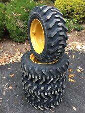 4 New 10x165 Skid Steer Tires Amp Rims For Caterpillar Cat 10 165 Camso